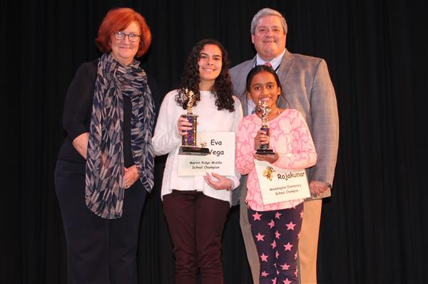 Marvin Ridge Middle student outperforms 39 competitors in record-breaking UCPS Spelling Bee