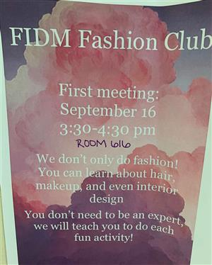 Fashion Club flyer