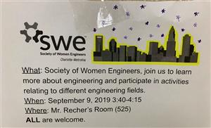 Society of Women Engineers club flyer