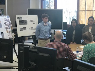 Civil Engineering & Architecture students give presentations