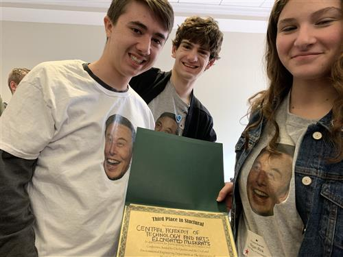 CATA Engineering students show off award