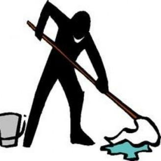 Person mopping the floor