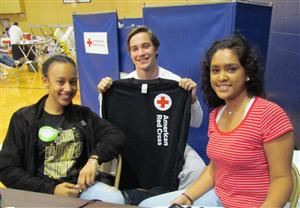 Blood Drive students