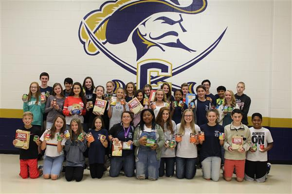 Cuthbertson Middle Schools' Jr. Beta Club, in collaboration with Five Stones Church