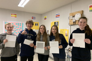 Spanish I Class Participates in Pen Pal Project with Students in Santiago