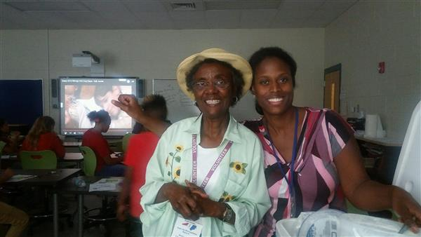 Ms. Bea Colson with 6th grade teacher, Mrs. Alexander
