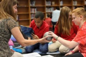 Cuthbertson and East Union Middle students walk on the moon -- without ever leaving their school