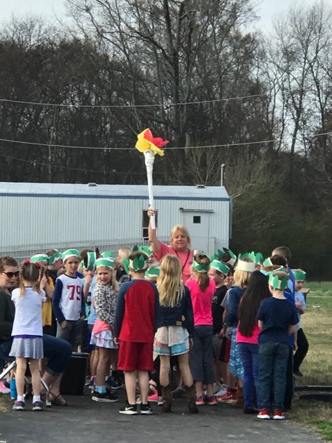 Second Grade Competes in the Winter Olympics