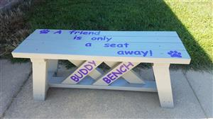 New Buddy Bench at Fairview
