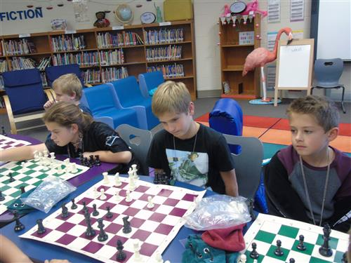 Chess playing in action