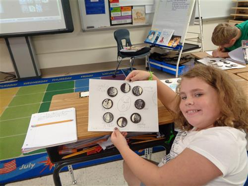 Savannah shows her phases of the moon.