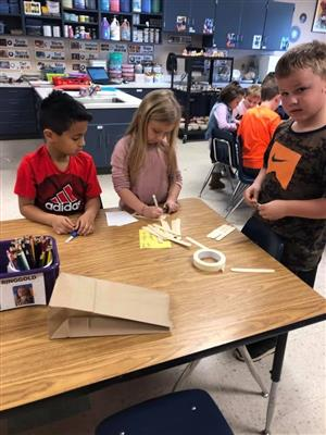 2nd graders begin the design process