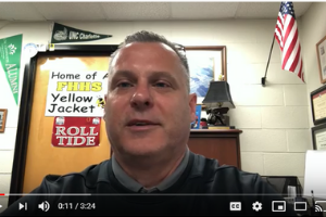 Forest Hills Principal Kevin Plue now does his morning announcements over YouTube.