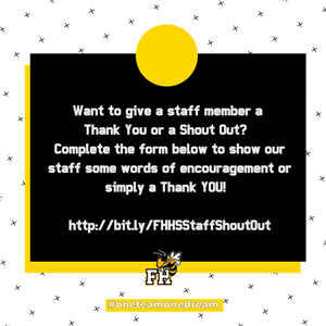Click the image to complete a Google form to send a Staff Shout Out