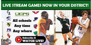 Live Stream UCPS Athletic Events. Click to subscribe.
