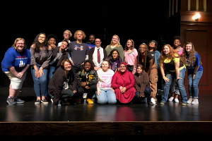 Cast of War at Home, play performed at NCTC Festival, 2019