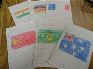 First Grade Tours the World