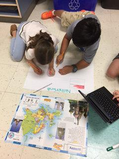Second Graders Celebrate Global Day