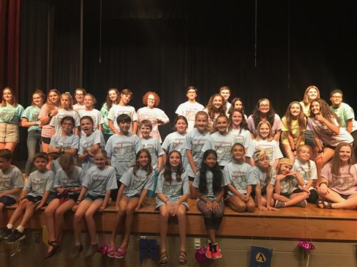 Students attend a week-long theatre camp at MRHS