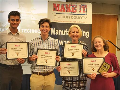 "MRHS Students earn top honors in annual ""Make It In Union County"" Manufacturing Week contest"