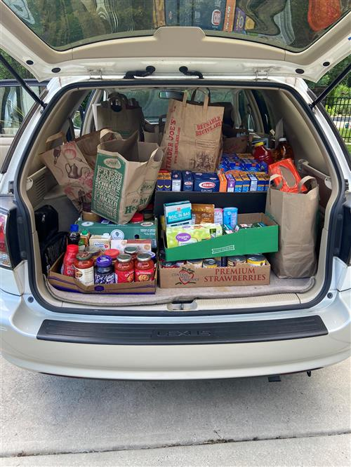 food donated to Second Harvest Food Bank