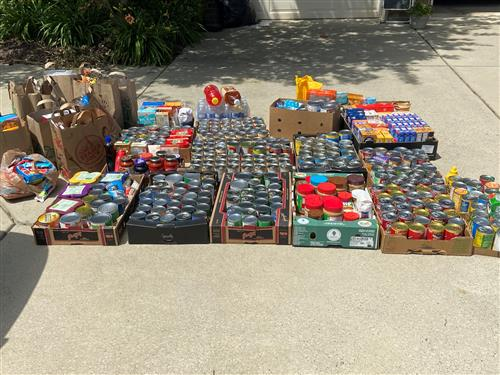 Over 628 pounds of food donated to 2nd Harvest Food Bank
