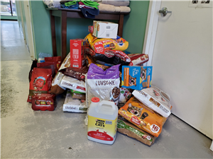 Small portion of donations dropped off at York County Humane Society