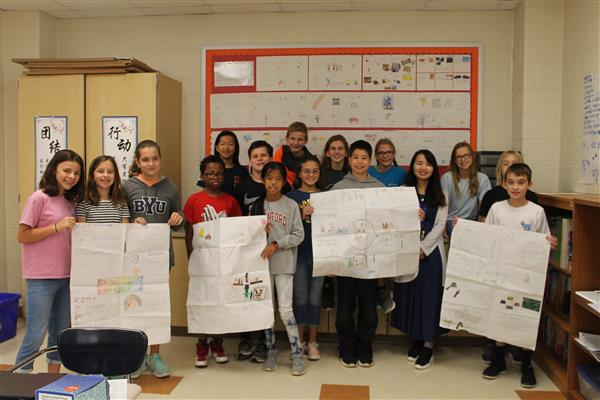 Chinese immersion 6th grade class