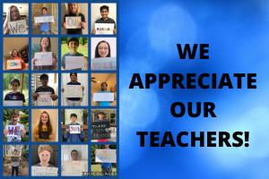 The Student Council Appreciates the Teachers of MRMS