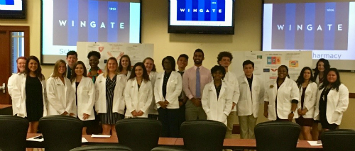 Health Science students receive white coats