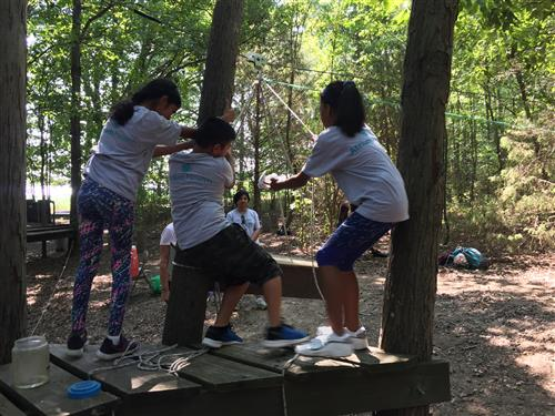 6th Grade Scholars at Ropes Course