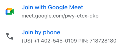 Wayfind. Join with Google Meet