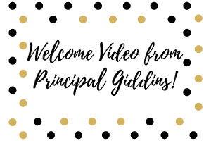 Virtual Open House Welcome from Principal Giddins
