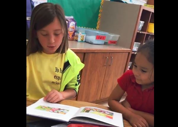 SVES immersion students read to East immersion students