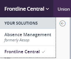 Frontline/Absence Management Toggle