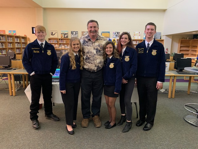 Bryant with FFA Officers