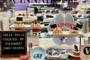 Cinnaholic display in Indian Trail.