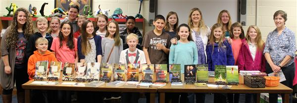 Author Visits 6th Grade Team