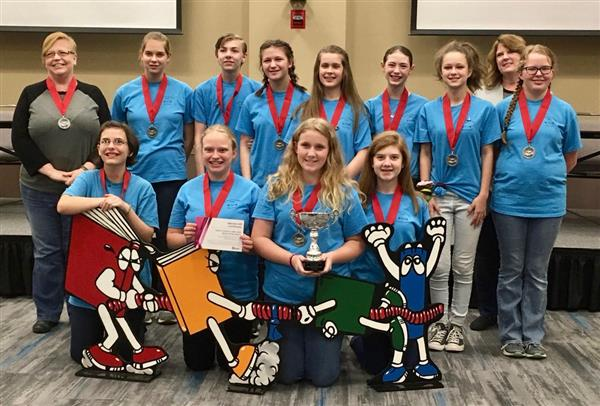 Battle of the Books Team wins 2nd in state