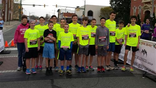 "Piedmont Running Club Competes in ""Follow Your Heart 5K"""
