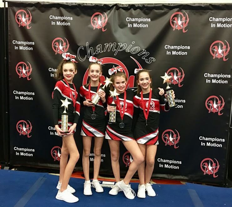 6th grade cheerleaders take gold!