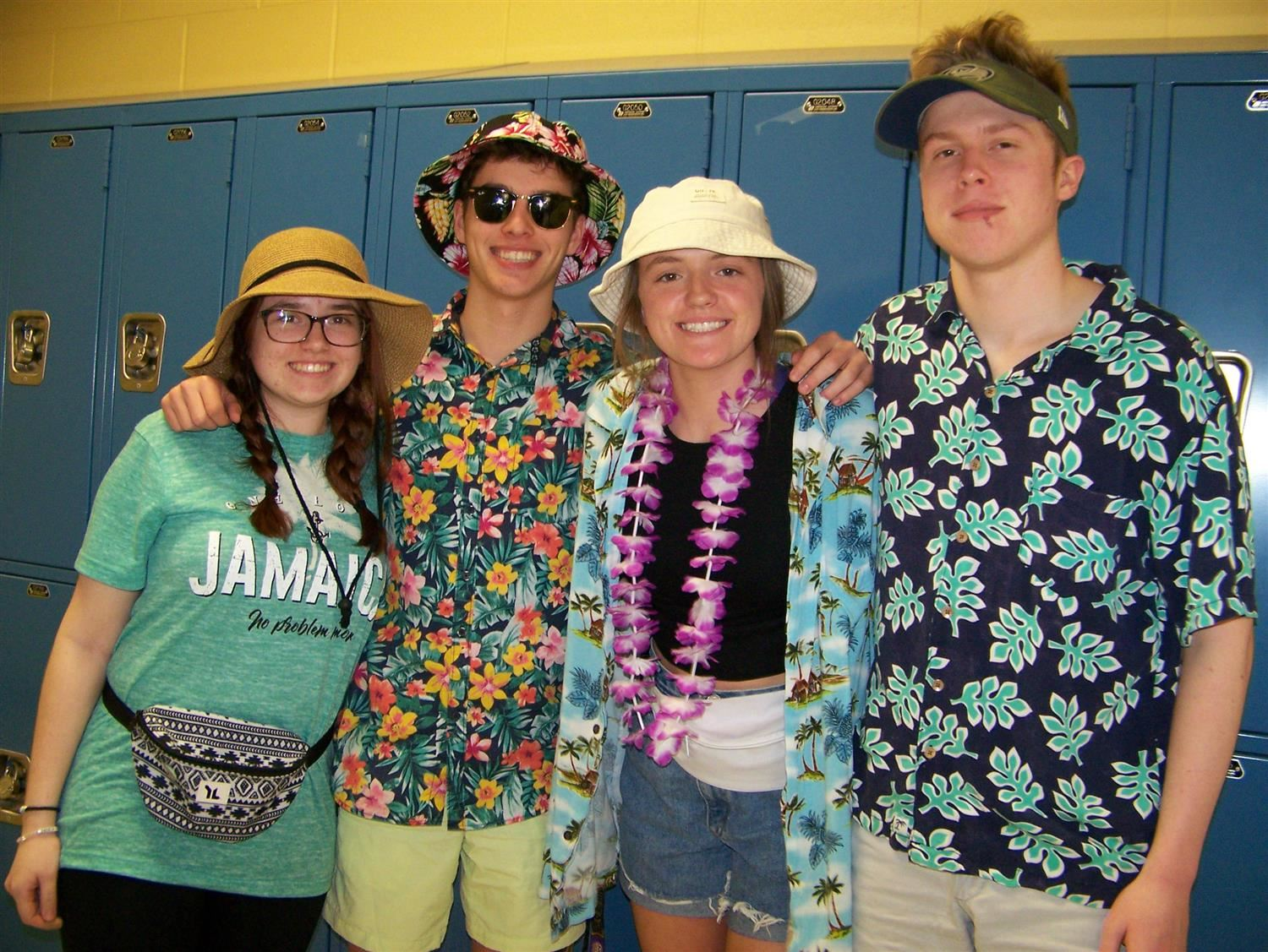 Students dressed up for Tourist Thursday!