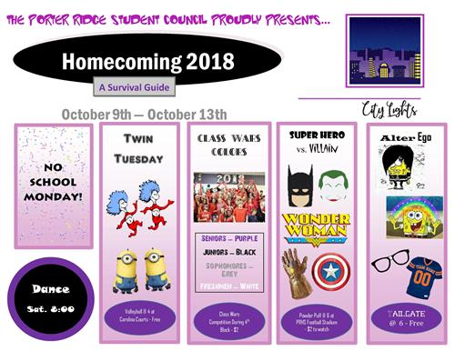 Homecoming 2018 Survival Guide