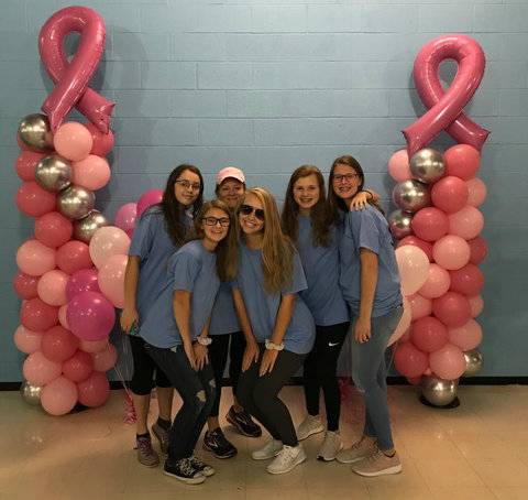 Members pose at Piedmont Community Breast Cancer Walk.