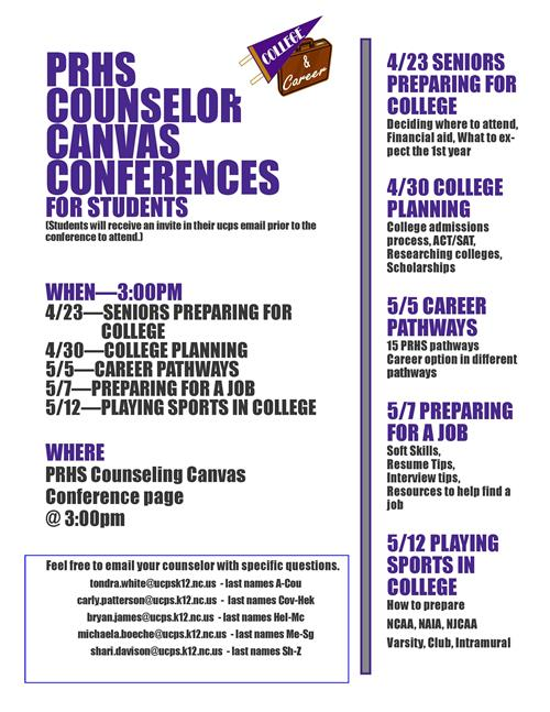 Counseling Conference Series Flyer