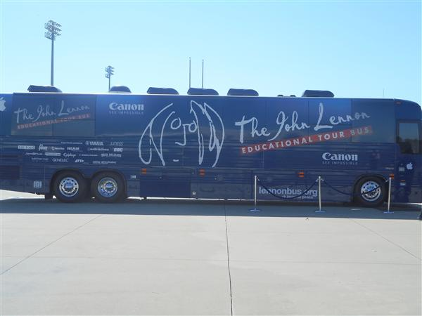 John Lennon Educational Tour Bus visits PRHS