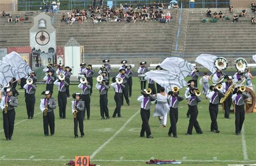 Band of Pirates performs on the field
