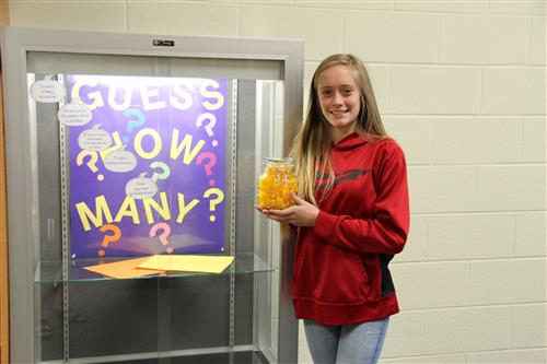 Student wins Guess How Many Contest