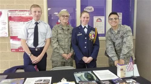 Cadets recruit during lunches.