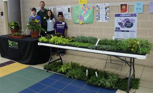 NC Farms brings plants, pots and potting soil for students to pot their chosen plants.